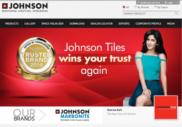 Johnson Tile web page